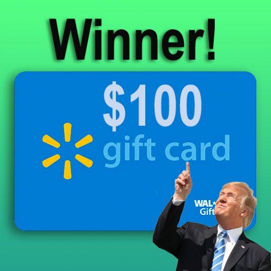 win 100 dollar walmart gift card