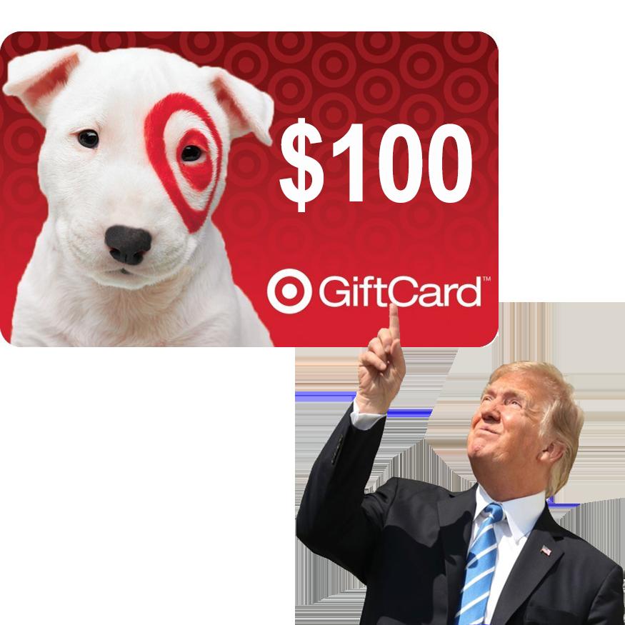 trump $100 target gift card